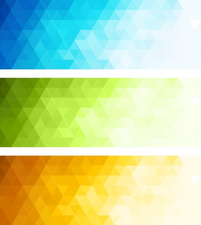 Abstract color banner