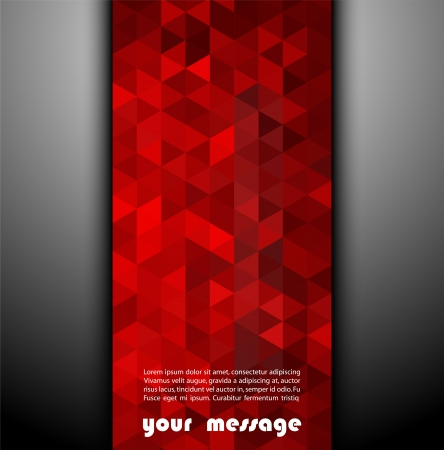red color: Abstract template background with triangle shapes Stock Photo
