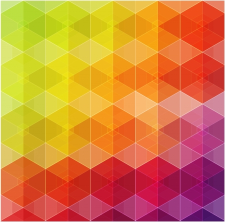 Retro pattern of geometric shapes  Colorful mosaic banner  Stock Photo - 20963004