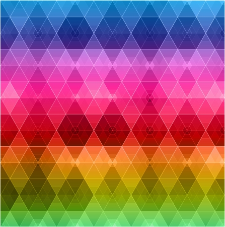 Retro pattern of geometric shapes  Colorful mosaic banner  Stock Vector - 20963005