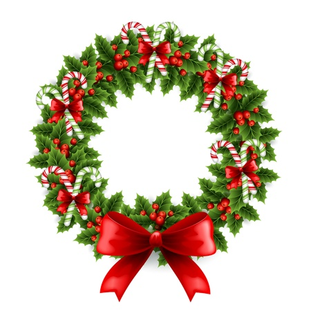 illustration Christmas wreath Illustration