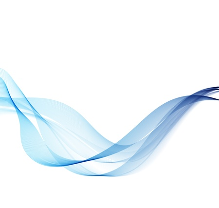 stream  wave: Vector Abstract background with blue smoke wave Illustration