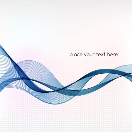 abstract waves: Vector Abstract background with blue smoke wave Illustration