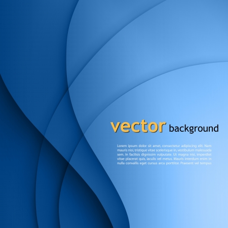 Blue  smooth twist light lines vector background. Vector