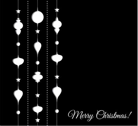 Illustrazione vettoriale Natale decorazione sfondo carta