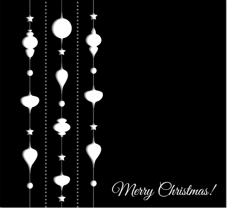 Vector illustration Christmas decoration paper background Vector