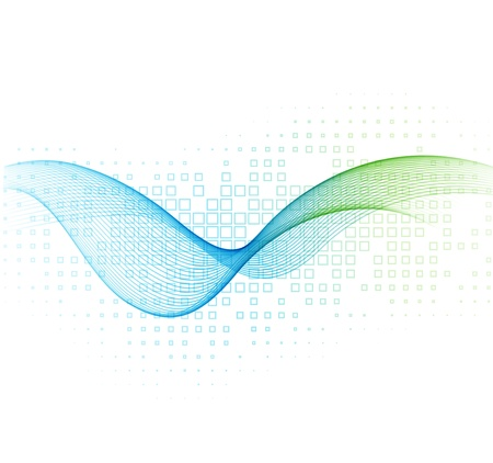 Vector smoke wave abstract background