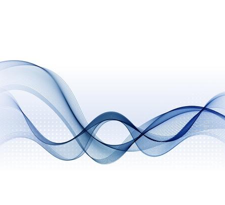 fumo blu: Vector astratto con onda fumo blu