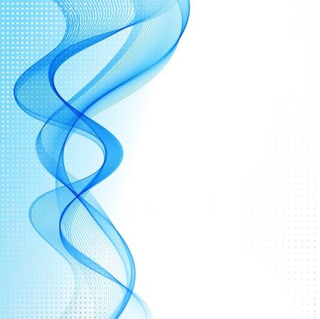 fumo blu: Vector sfondo astratto con onda blu fumo Vettoriali
