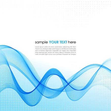 Vector Abstract background with blue smoke wave Illustration