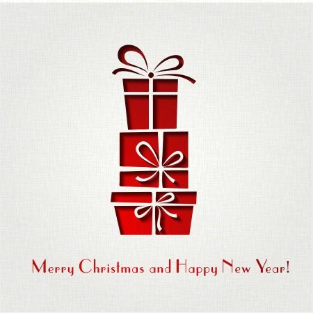 christmas beads: Vector illustration Christmas decoration paper background   Illustration