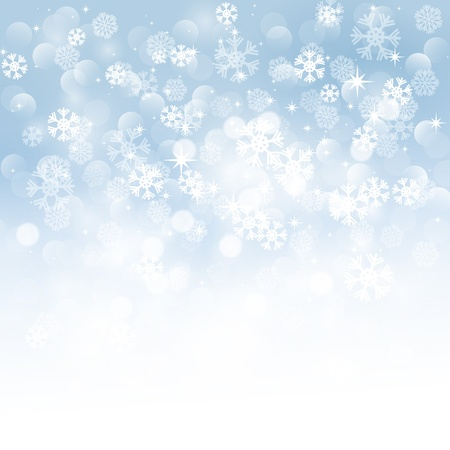 winter background: Christmas snowflakes background