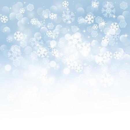 snow storm: Christmas snowflakes background