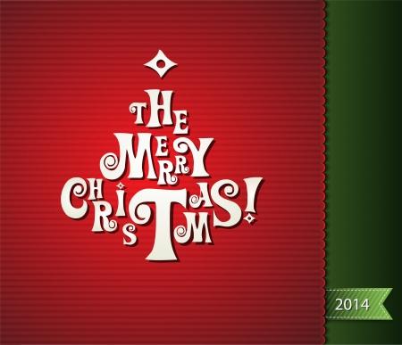 wesolych swiat: Merry Christmas karty Ilustracja