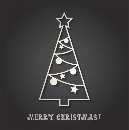 xmas tree: Merry Christmas card