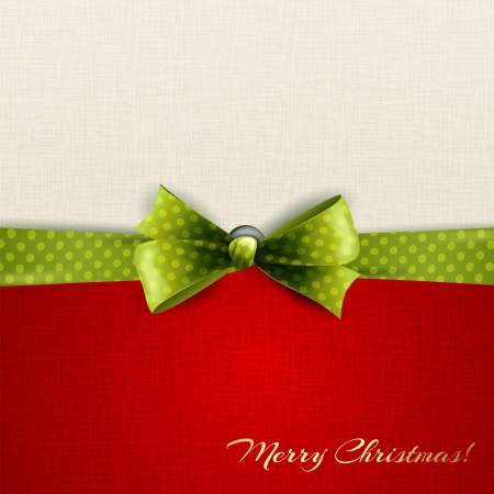holiday: Holiday background with green polka dots bow
