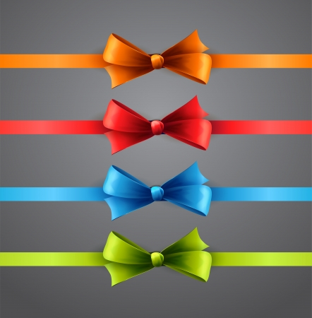 Vector illustration Colorful ribbons with bows Vector