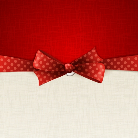 holiday background: Holiday background with red polka dots bow