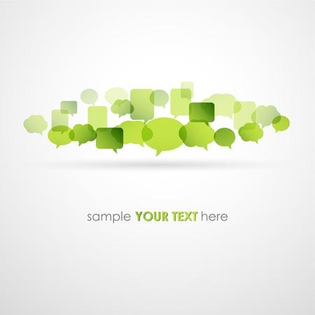 word art: Vector illustration Speech bubble network background. EPS10