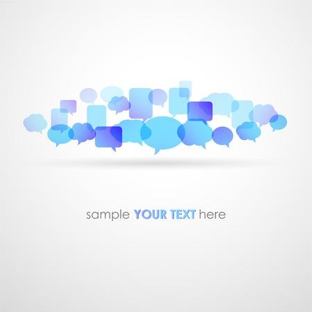 interaccion social: Ilustraci�n vectorial Speech Fondo de la red de burbujas. EPS10
