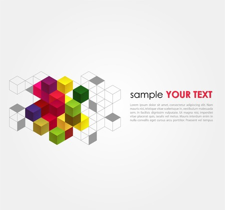 Vector abstract background with color cubes Stock Vector - 23102089
