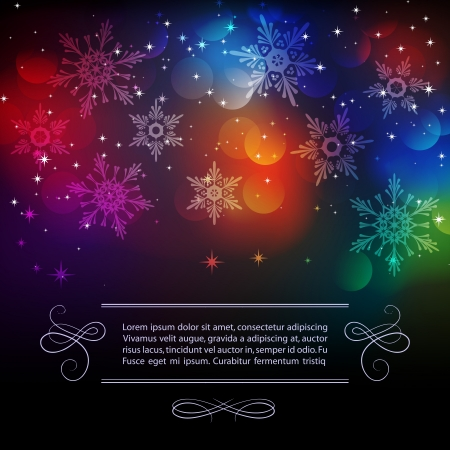 Vector illustration Christmas vintage background    Vector