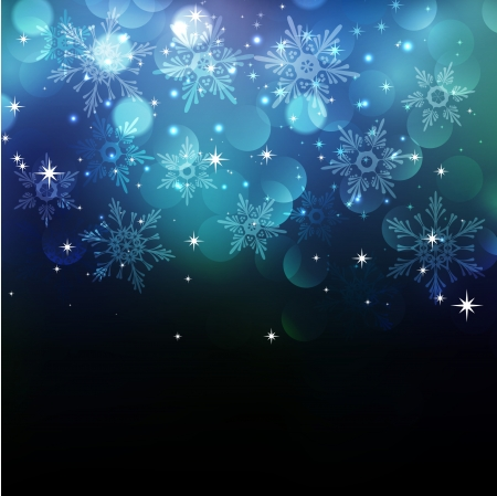 rd: Vector illustration Christmas snowflakes background  Illustration