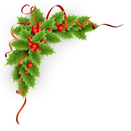 Vector Christmas holly with berries. EPS 10 Stock Vector - 23650599