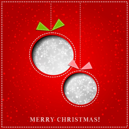Vector Merry Christmas Paper greeting card  EPS 10 Vector