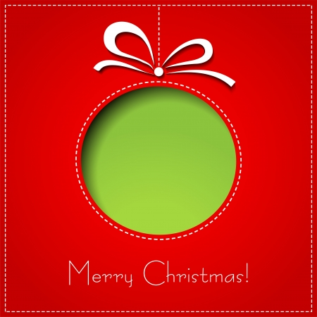 greeting card background: Vector Merry Christmas Paper greeting card  EPS 10