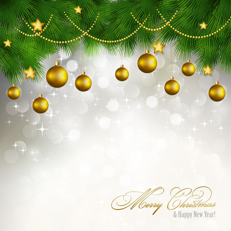 Vector Merry Christmas greeting card. EPS 10 Vector