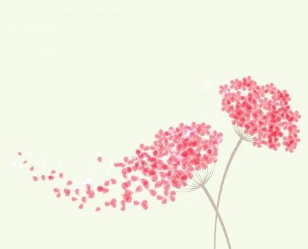 Vector Romantic background with flowers hydrangea Vektoros illusztráció