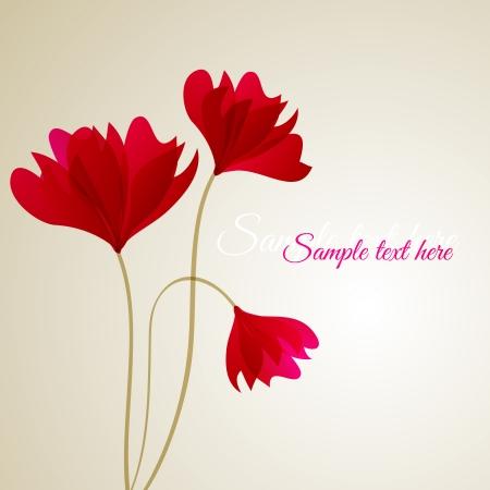 Flower vector background Illustration