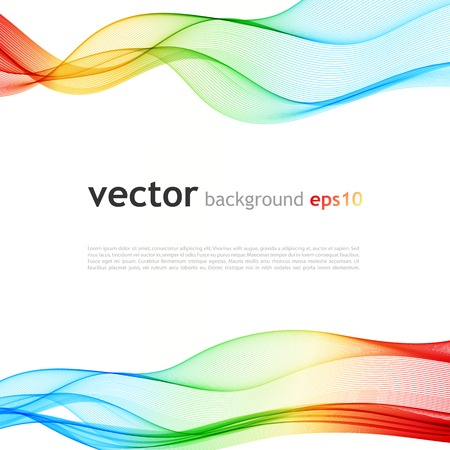 Abstract colorful background  Spectrum wave  Vector illustration Vector