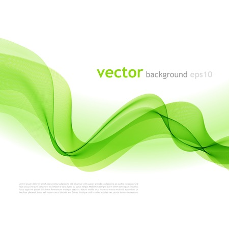 Vector illustration Abstract colorful background with green smoke wave