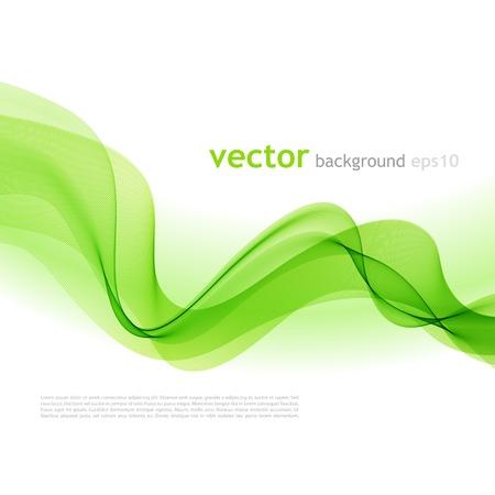 Vector illustration Résumé fond coloré avec du vert vague de fumée