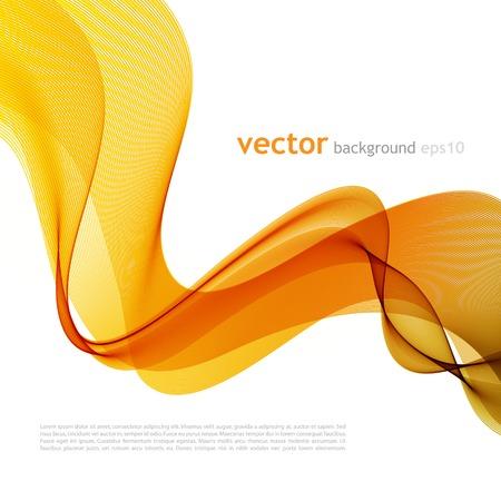 Vektor-Illustration Zusammenfassung bunten Hintergrund mit orange Rauch Welle