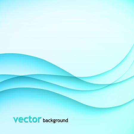 fumo blu: illustrazione Astratto sfondo colorato con onda blu fumo