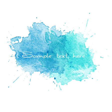 Modrá Akvarel stříkance. Vektorové ilustrace