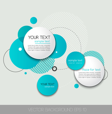 Modern Design Circle template for infographics