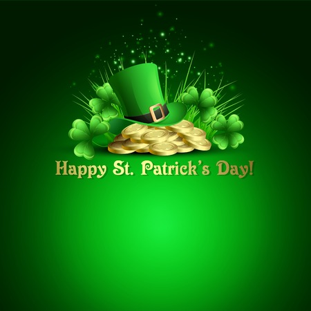 St.Patricks Day background. Vector illustration Vector