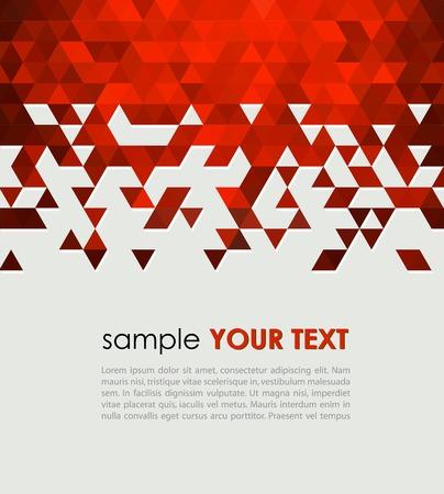 rot: Zusammenfassung Technologie Hintergrund mit Dreieck Vektor-Illustration