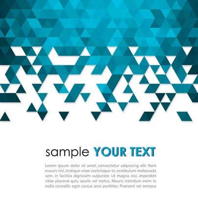 triangulo: Fondo de tecnolog�a abstracto con el tri�ngulo ilustraci�n vectorial Vectores