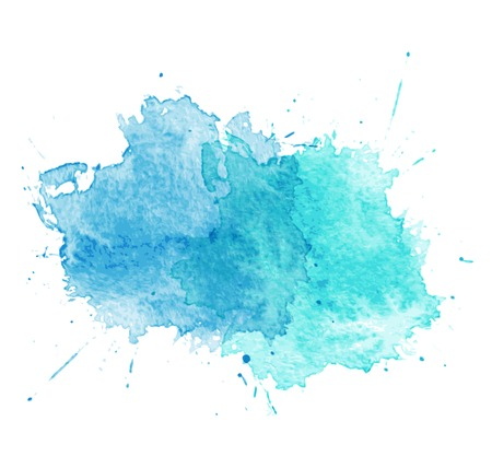 Blue Watercolor splatters  Vector illustration Vector