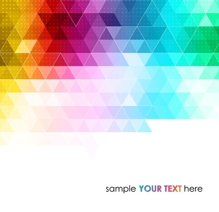 triangle pattern: Abstract colorful  geometric background. Vector illustration
