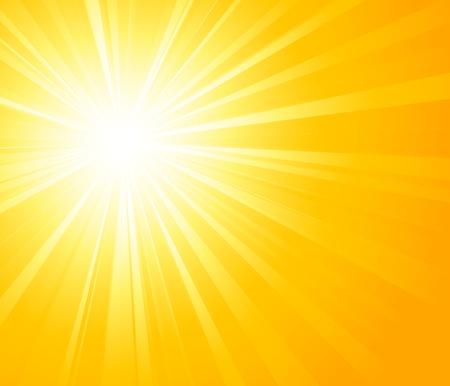 Vector illustration Orange summer sun light burst Illustration