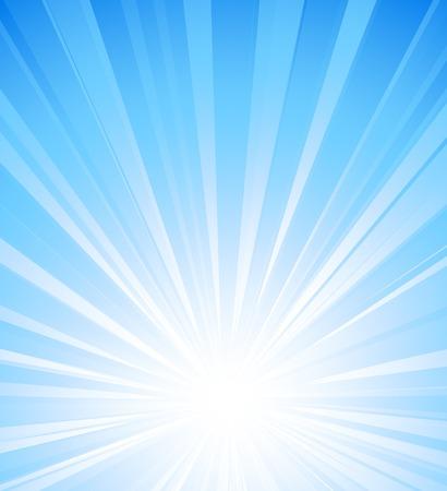 Vector illustration summer sun light burst