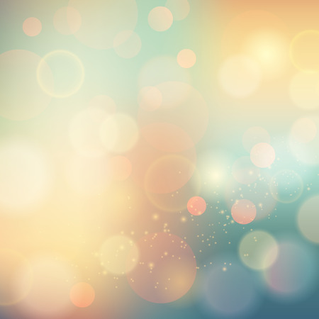 bokeh: Vector illustration of soft colored abstract background