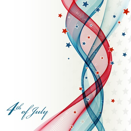 American Independence Day  Patriotic background  illustration