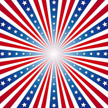 American Independence Day Patriotic background illustration Vector Illustration
